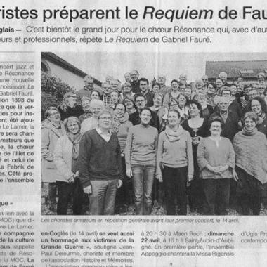 Article OF Mysterious Opus Cie Requiem Fauré 120318